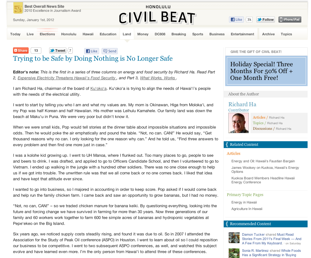 Civil Beat article
